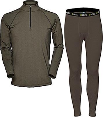 Hecs Base Layer Pants & Shirt Green 2X