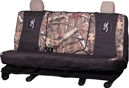 Browning Full Size Bench Seat Cover MO Inf w/Pink Buckmark