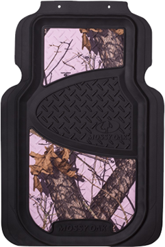 Mossy Oak Floor Mat Mossy Oak Breakup Pink w/Black Trim