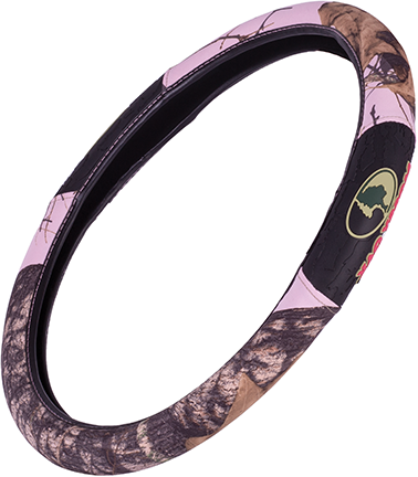 Mossy Oak 2-Grip Steering Wheel Cover Mossy Oak Breakup Pink