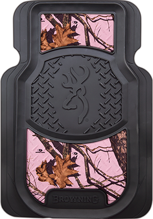 Browning Floor Mat Pink Camo w/Black