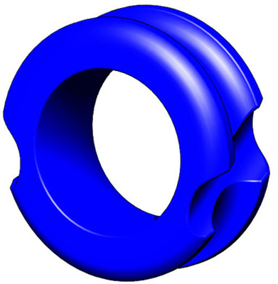 "G5 Meta Peep Pro Hunter 1/4"" Blue"