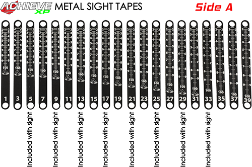 Axcel Achieve XP Metal Sight Tape Scale #15 and #16