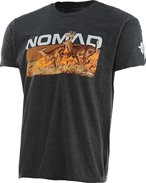 Nomad Rolling Whitetail Tee Dark Grey Heather Large