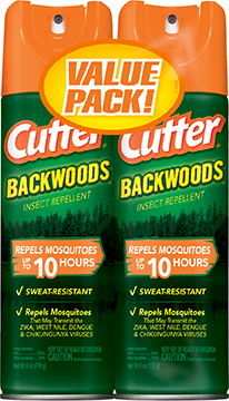 Cutter Backwoods Insect Repellet 25% DEET 2pk. 6oz. ea.