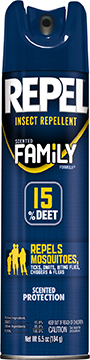 Repel Insect Repellent Scented Family Formula 15% DEET 6.5 oz.