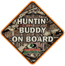 Huntin Buddy On Board Decal Breakup Camo