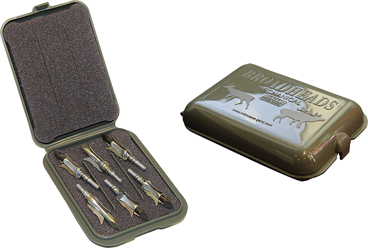 MTM Mechanical Broadhead Case Army Green