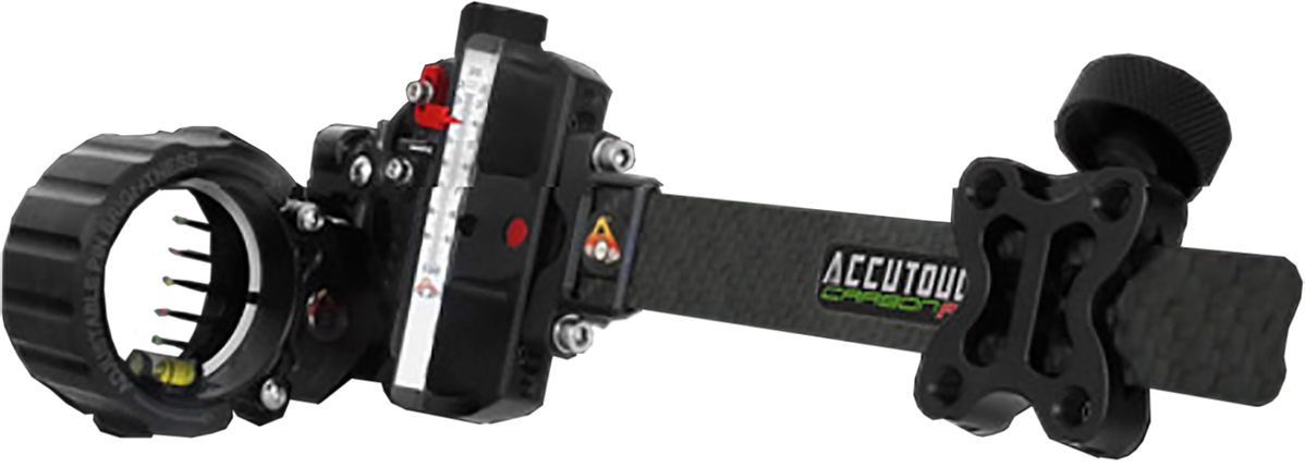 Accutouch Carbon Pro Slider Sight 5 Pin .010 Black Accustat