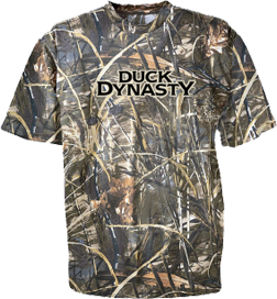 Duck Dynasty Logo Short Sleeve Tshirt Camo & Max 4 Large