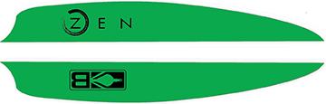 Bohning Air Vanes Neon Green 4 in. 100 pk.