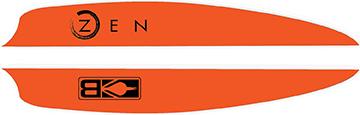 Bohning Air Vanes Neon Orange 4 in. 100 pk.