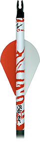 Bohning Arrow Wrap White and Red Tiger 7in. Std 13 pk