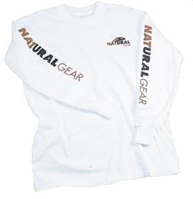 Long Sleeve Logo Tshirt White 2X