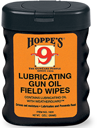 Hoppes Lubricating Gun Oil Field Wipes 50-3x5
