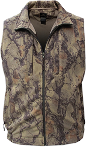 Full Zip Fleece Vest Natural Camo Large