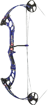 "18 Mudd Dawg Bow Fishing Bow 30"" 40#  Dkd Blue"