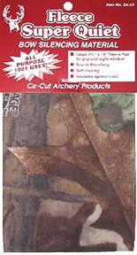 Cir-Cut Micro Fleece Silencing Material Camouflage 3.75x10 in.