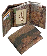 Leather Trifold Billfold Breakup Camo