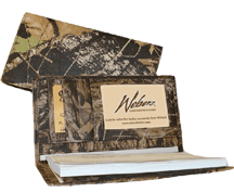 Leather Checkbook Cover Breakup Camo