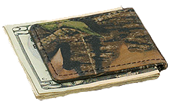 Leather Money Clip Breakup Camo