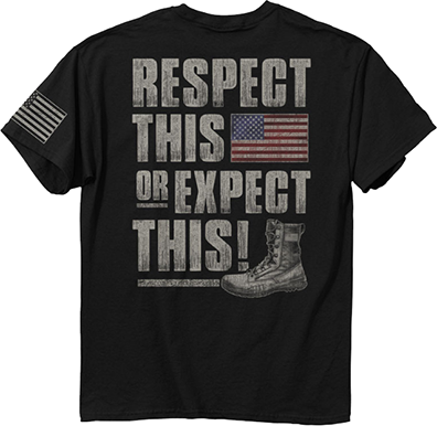 """Respect This"" T-Shirt Black Large"
