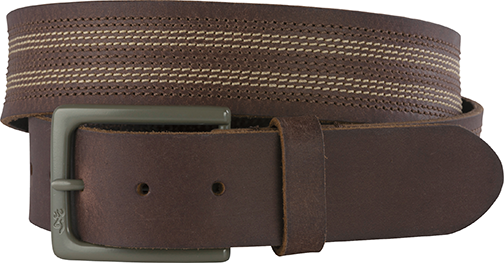 "Mens Browning 40"" Watson Belt Bracken w/Buckmark Buckle"