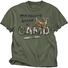 Favorite Color Camo Moss Tee Large