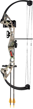 Brave Youth Bow All Purpose Green Camo RH w/Accy Package