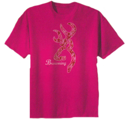 Youth Short Sleeve Pink Camo Tshirt Medium