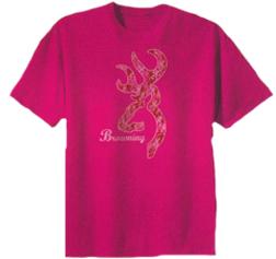Youth Short Sleeve Pink Camo Tshirt XL