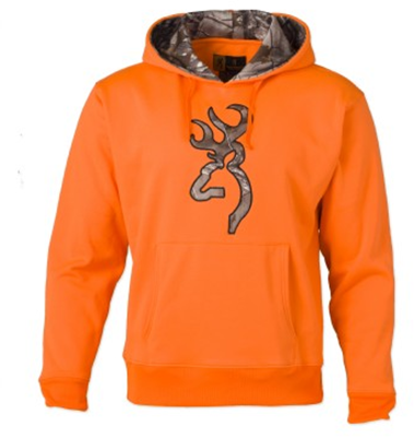 Browning Hoodie w/RTX Buckmark Blaze Orange Large
