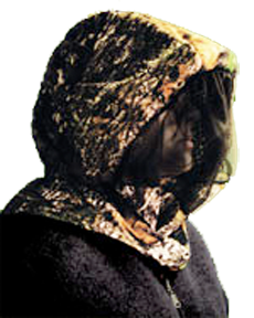 Headnet w/Face Shield Breakup Large/XLarge