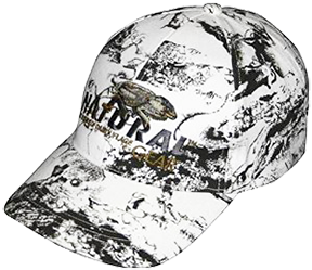 6 Panel Baseball Hat Snow Camo