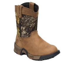 Kids Aztec Pull-on Boot Mossy Oak Breakup/Brown Size 4