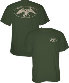 Duck Commander Logo S/S Tshirt Moss Large