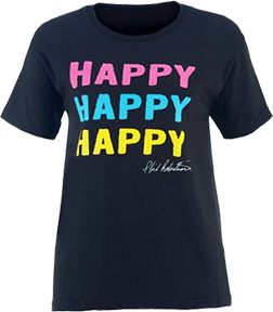 Ladies Duck Commander S/S Shirt Happy Happy Happy Large