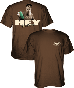 Duck Commander Hey Uncle Si S/S Tshirt Chocolate 2X