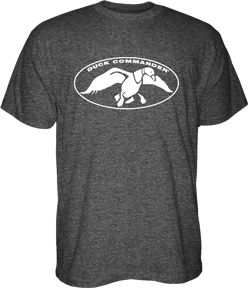 Duck Commander Logo S/S Tshirt Charcoal Heather Medium