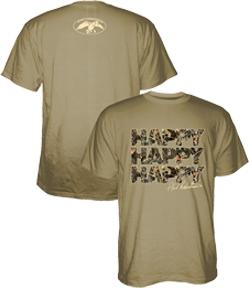 Duck Commander Happy Happy Happy S/S Tshirt Sand Large