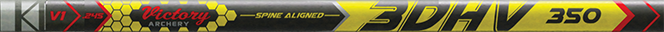 3DHV .204 Elite Target 600 Raw Shaft w/Unibushing/F Nock