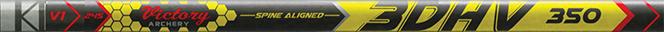 3DHV .204 Elite Target 700 Raw Shaft w/Unibushing/F Nock