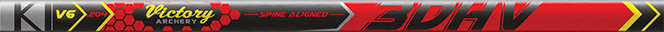 3DHV .204 Sport Target 300 Raw Shaft w/Unibushing/F Nock