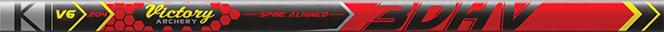 3DHV .204 Sport Target 350 Raw Shaft w/Unibushing/F Nock