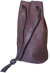 Leather Bullet Bag Brown