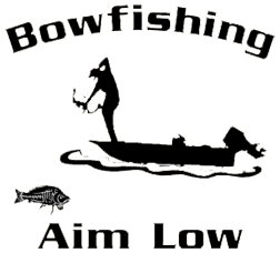 Bowfishing Decal White 5.5x6