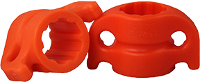 "AMS 5/16"" Safety Slide Orange"