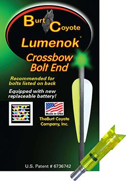 Lumenok Crossbow Nock Green Gold Tip Moon 3 pk.