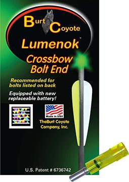 Lumenok Crossbow Nock Green Gold Tip Flat 3 pk.