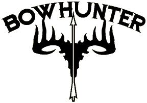 Bowhunter Skull Decal 5x6